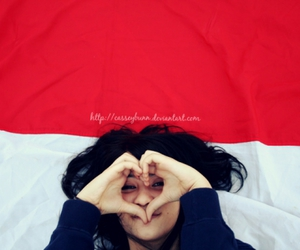 flag, indonesia, and photography image