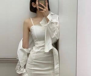 aesthetic, asian girl, and white image