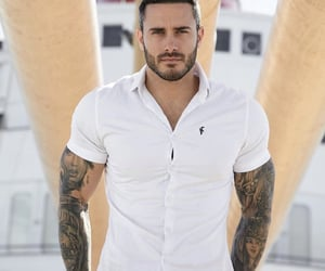 beard, Hot, and muscular image