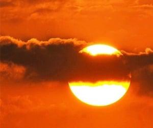 orange, aesthetic, and sun image