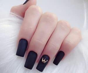 black, elegant, and nails image