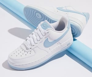 blue, nike air force, and light blue image