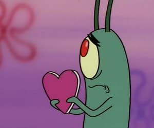 heart, plankton, and spongebob image