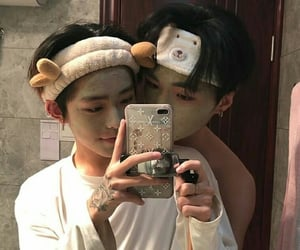 aesthetic, alternative, and gay couple image