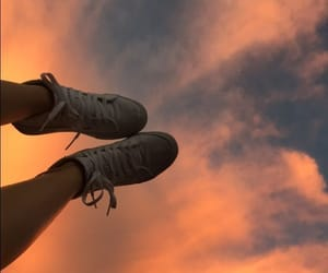sky, shoes, and aesthetic image