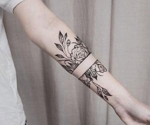 fashion, flowers, and tattoo image