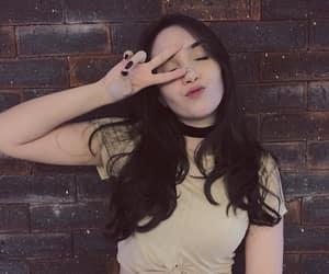 brunette, kiss, and choker image
