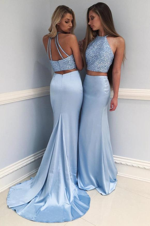 prom dress, mermaid prom dresses, and two pieces prom dress image