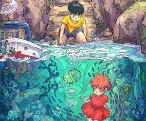 Ponyo, ghibli, and anime image