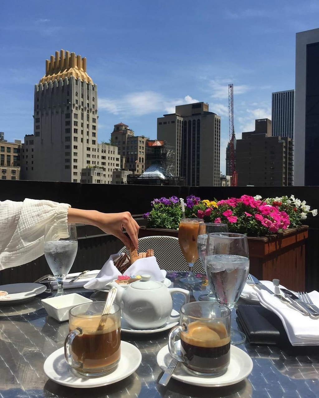 breakfast, coffee, and new york image