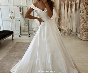 bridal gown, elegant wedding dress, and wedding dress image