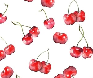 aesthetic, cherries, and pattern image