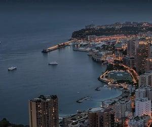 city lights, night, and stars image