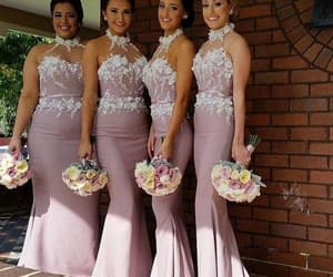 pink bridesmaid dress, wedding guest dresses, and cheap bridesmaid dresses image