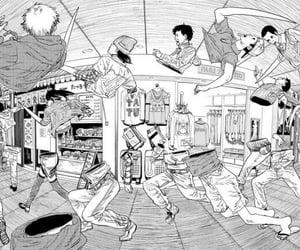 anime, weird, and draws image