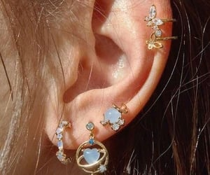 earrings, fashion, and blue image