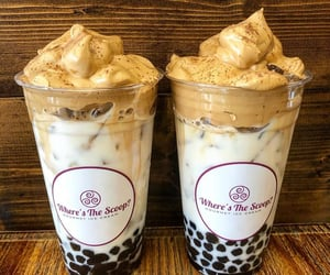 bubble tea, coffee, and drink image