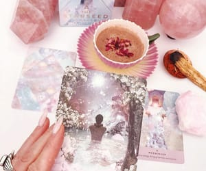 cards, crystals, and pink image