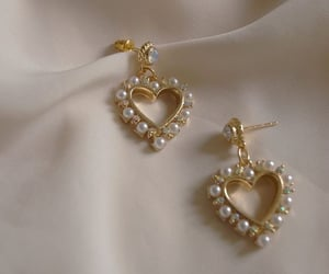 accessories, earrings, and heart image