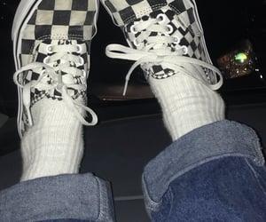 denim, vans shoes, and fashion image