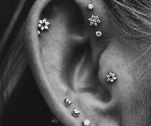 art, body art, and ear studs image