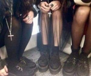 grunge, black, and goth image