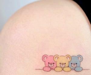 bears, blue, and girl image