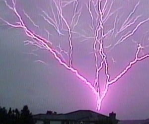 lightning, aesthetic, and pink image