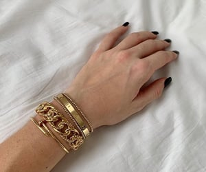 bracialets, fashion, and gold image