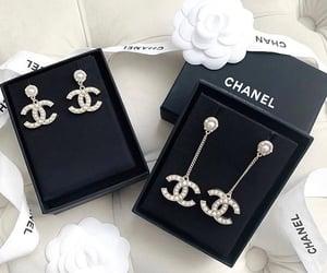 chanel, earring, and earrings image