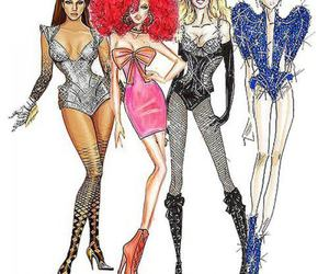 beyoncé, britney spears, and Lady gaga image