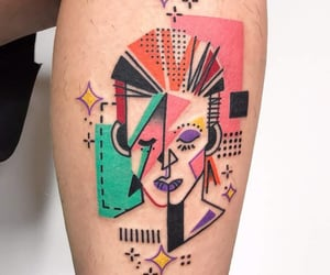 colors, rebel, and tattoo image