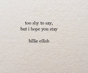 quotes, billie eilish, and text image