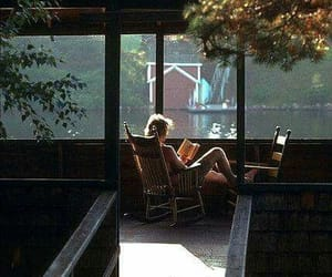 book, reading, and lake image