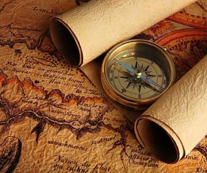 map, compass, and world image