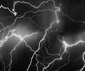 lightning, black, and night image