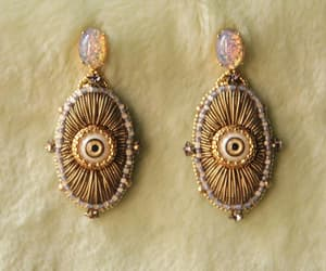 boho, fortune teller, and statement earrings image