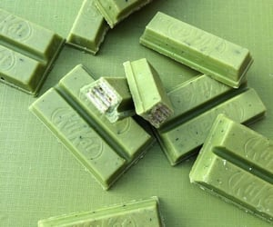 green, aesthetic, and chocolate image