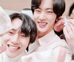 jin, kpop, and smile image