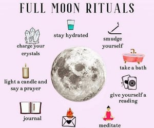 magick, full moon, and witchy image