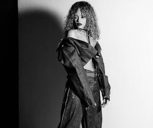 black and white, photoshoot, and rihanna image