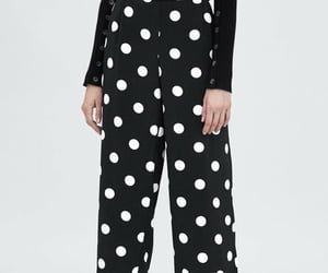buttons, cropped, and culottes image
