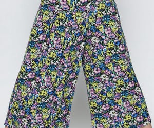 cropped, culottes, and floral image