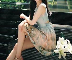 dress, elegant, and floral image