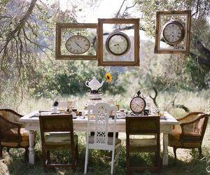 clocks, clock, and tea image