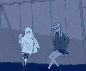 aesthetic, ghost, and blue image
