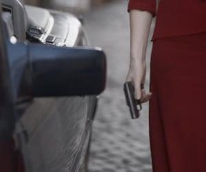 car, killing eve, and gun image