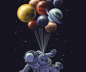 astronaut, space, and astro image