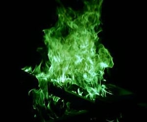 green and fire image