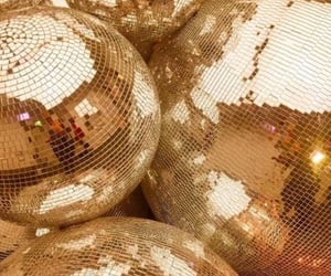gold, aesthetic, and disco image